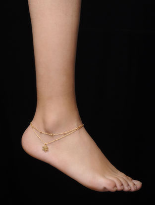 Gold Micron-plated Silver Anklet