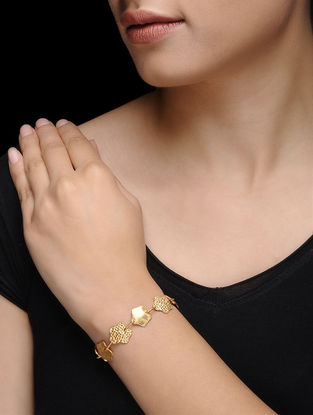 Gold Micron-plated Silver Bracelet