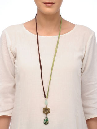 Green Agate and Sediment Jasper Necklace