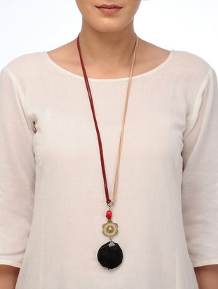 Red Coral and Green Agate Necklace