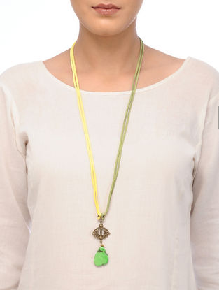 Green Dyed Howlite Necklace