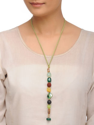 Mother of Pearl and Agates Necklace