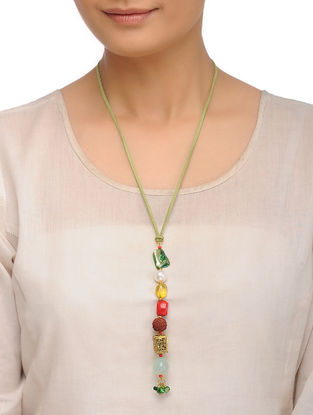 Agate and Tourmaline Necklace