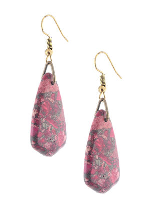 Red Pyrite Earrings