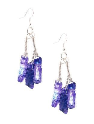 Blue Quartz Beaded Earrings
