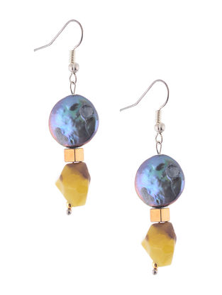 Agate and Pearl Beaded Earrings