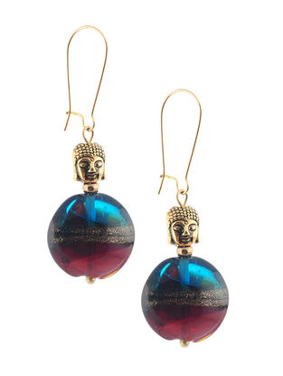 Glass Beaded Earrings with Lord Buddha Design