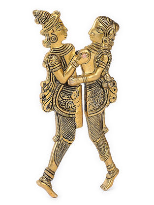 Brass Nut Cracker with Raja Rani Design (L:6.2in, W:3in)