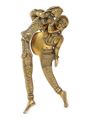 Brass Nut Cracker with Raja Rani Design (L:6in, W:2.5in, H:8in)