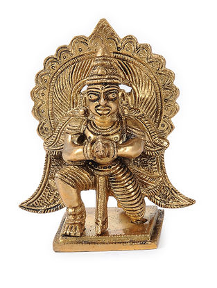 Brass Home Accent with Garuda Design (L:2in, W:3.1in, H:3.7in)