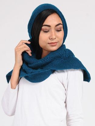 Blue Wool Hood Cap