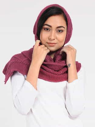 Pink Wool Hood Cap