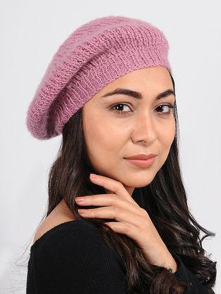 Pink Wool Beret