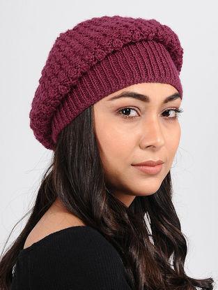 Magenta Wool cap