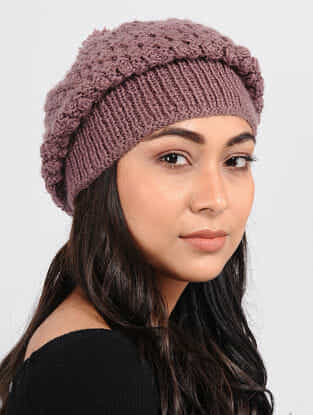 Mauve Wool cap