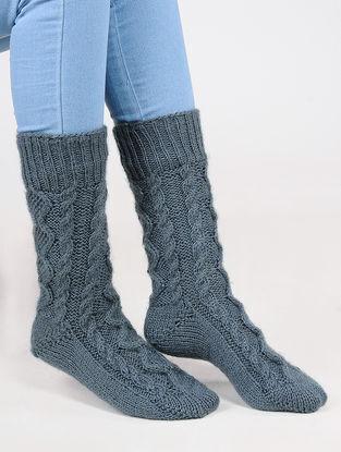 Grey Wool Ankle Socks