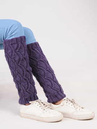 Purple Wool Leg Warmer