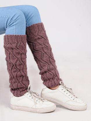 Peach Wool Leg Warmer