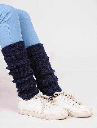 Blue Wool Leg Warmer