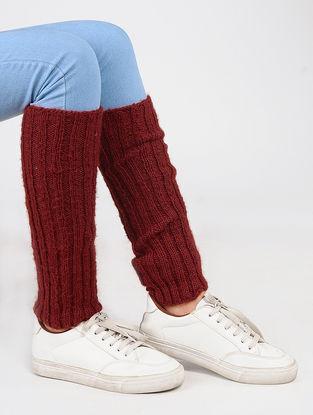 Red Wool Leg Warmer