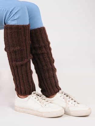 Maroon Wool Leg Warmer