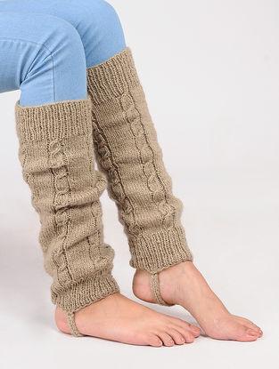 Beige Wool Leg Warmer