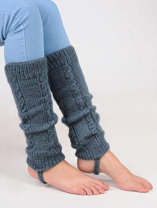 Grey Wool Leg Warmer