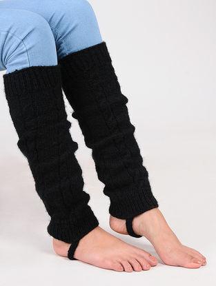 Black Wool Leg Warmer