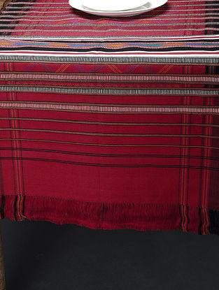 Multicolored Hand Woven Cotton Pattu (74in x 24in)