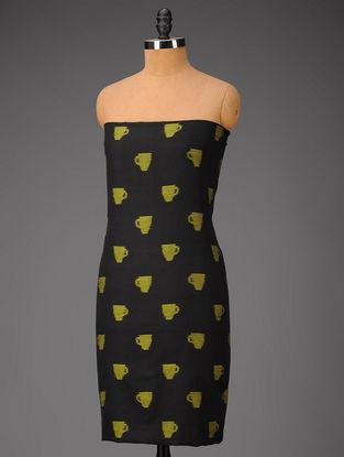 Black-Green Ikat Cotton Fabric