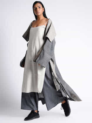 Grey Organic Cotton Silk Jacket