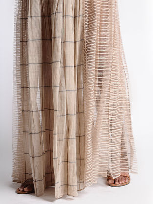 Coral Kota Silk Skirt