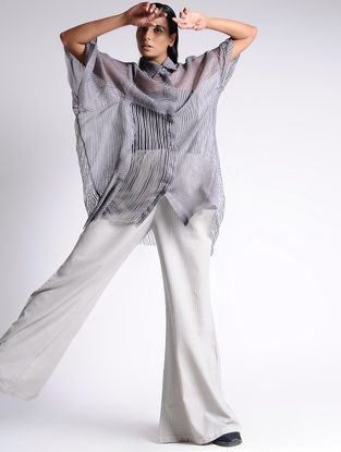 Grey Silk Shirt