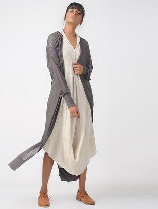 Brown Linen Silk Jersey Jacket