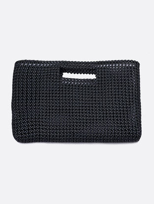 Black Recycled Plastic Weave Hand bag