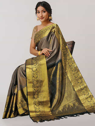 Brown Gadwal Silk Saree