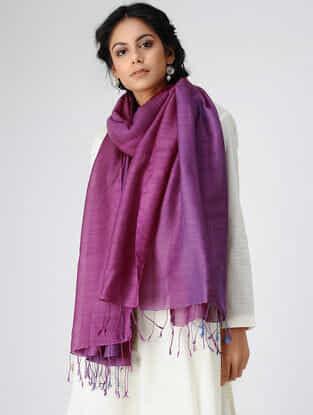 Purple Wool Silk Shawl