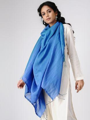 Blue Wool Silk Shawl