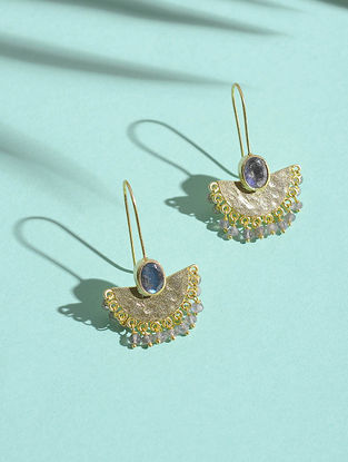 Labradorite Gold-plated Silver Earrings