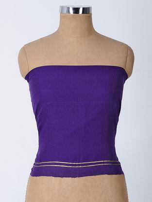 Blue Gota-patti Cotton Blouse Fabric