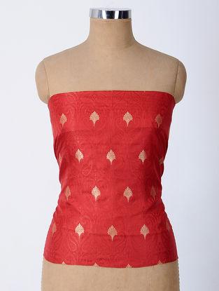 Red Brocade Silk Blouse Fabric