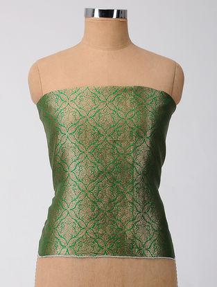 Green Brocade Silk Blouse Fabric