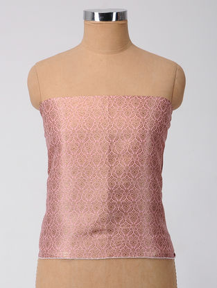Pink-Purple Brocade Silk Blouse Fabric