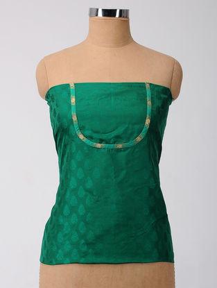 Green Patch-work Benarasi Silk Blouse Fabric