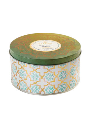 Blue Island Water 3 Wick Tin Scented Candle (Dia: 4.5in, H:2.3)