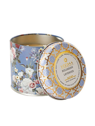 Bulgarian Lavender Mason Tin Scented Candle (Dia:3in, H:3in)