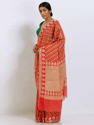 Red Benarasi Silk Saree