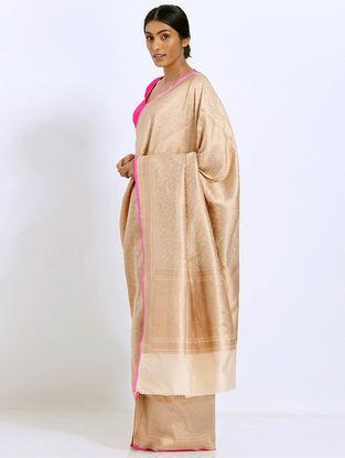Beige Benarasi Silk Saree