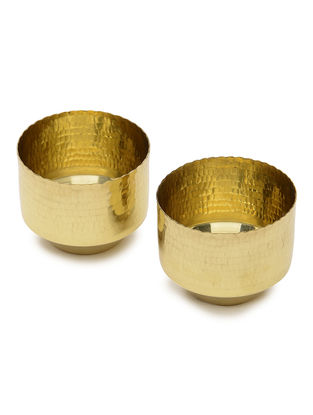 Niana Handcrafted Brass Tealight Holders (Set of 2)