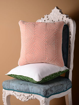 Light Pink Contour Cushion Cover  16in x 16in